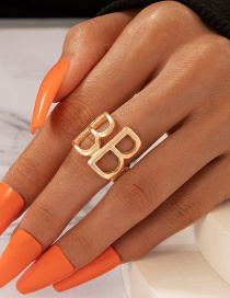 Fashion Gold Color Letter B Ring