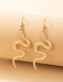 Fashion Gold Color Serpentine Metal Ear Studs