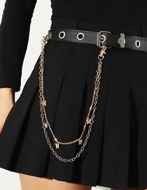 Fashion Gold Color Double Metal Waist Chain