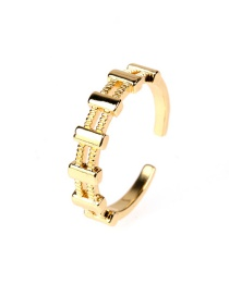 Fashion Gold Color Adjustable Opening Ring