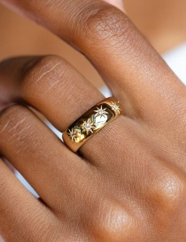 Fashion Gold Color Metal Ring
