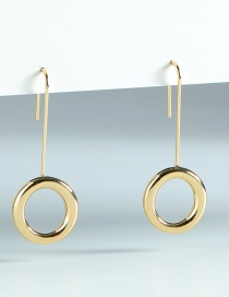 Fashion Gold Color Round Alloy Earrings
