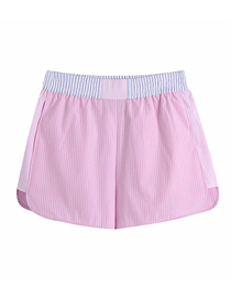 Fashion Pink Patchwork Striped A-line Shorts