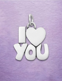 Fashion Silver Color Stainless Steel English Letter Pendant