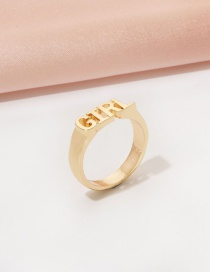 Fashion Gold Color Letter Ring