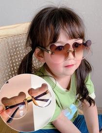Fashion Tawny Gradient Bear Children's Uv Protection Bear Sunglasses