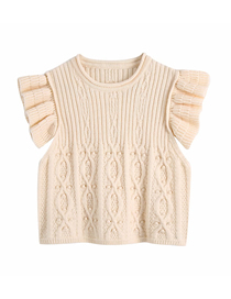 Fashion Beige Layered Sleeve Knit Pullover