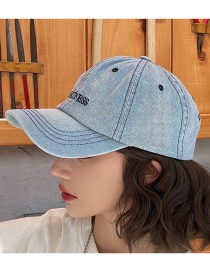 Fashion Denim Color Cowboy Alphabet Baseball Cap