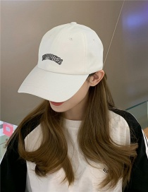 Fashion White Big Head Cap
