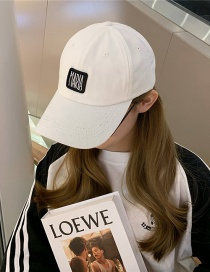 Fashion White Beige Alphabet Baseball Cap