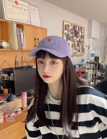 Fashion Light Purple Beige Pumpkin Baseball Cap