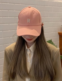 Fashion R Word-pink Small Head Circumference Baseball Cap