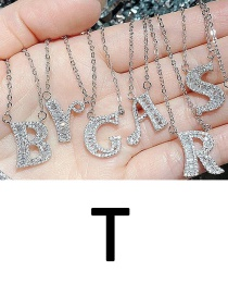 Fashion T English Letter A-z Adjustable Necklace