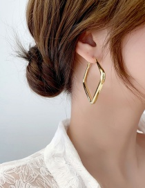 Fashion Gold Color Square Earrings