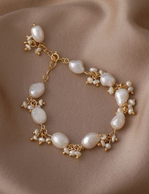 Fashion Gold Color Freshwater Pearl Bracelet