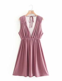 Fashion Pink Hollow Pullover Dress