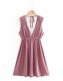 Fashion Green Linen Strap Dress