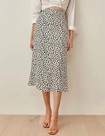 Fashion White Animal Print Skirt