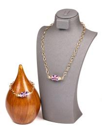 Fashion A Set Colorful Oil Drop Love Zircon Prayer Box Necklace And Bracelet Set