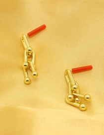 Fashion Gold Color Bamboo Earrings
