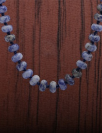 Fashion Blue Dot Stone Necklace Tiger Eye Blue Dot White Turquoise Knotted Necklace