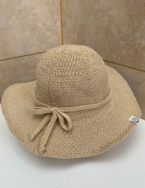 Fashion Beige Sun Protection Foldable Straw Hat