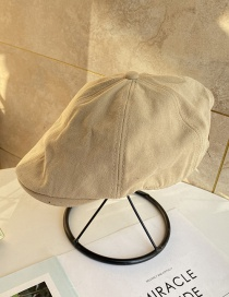 Fashion Beige Solid Beret