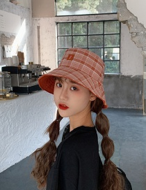 Fashion Brick Red Cartoon Sunscreen Fisherman Hat
