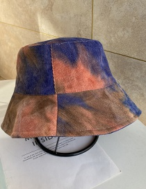Fashion Orange Tie-dyed Cotton Sunscreen Fisherman Hat