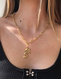 Fashion Gold Color Chain Dragon Necklace