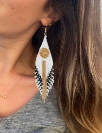 Fashion Color Woven Star And Moon Tassel Earrings