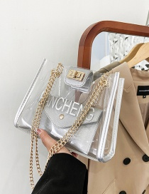 Fashion Silver Color Chain Transparent Shoulder Bag