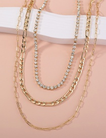 Fashion Gold Color Multi-layer Chain Necklace
