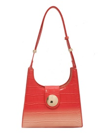 Fashion Orange Stone Gradient Shoulder Bag