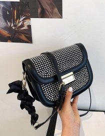 Fashion Black Bright Diamond Crossbody Bag