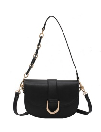 Fashion Black Chain Shoulder Messenger Bag
