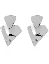Fashion Silver Color Irregular Metal Earrings