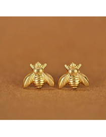 Fashion Golden Bee Insect Ear Studs