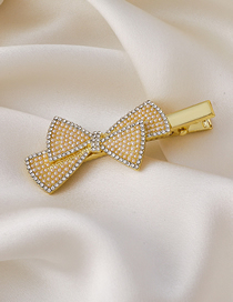 Fashion Bow Bow Pearl Hairpin
