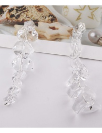 Fashion Ear Studs Transparent Crystal Ice Cube Earrings