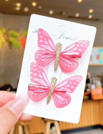 Fashion Honey Red Children's Color Butterfly Hairpin