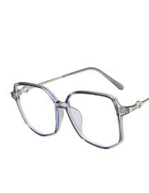 Fashion Transparent Gray Anti-blue Irregular Ultra-light Tr Flat Lens