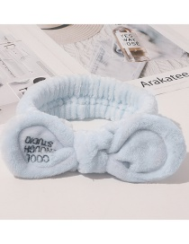 Fashion Cool Style-blue Letter Frío Plush Sequin Hair Band