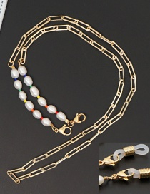 Fashion White Stainless Steel Chain Pearl Glasses Chain