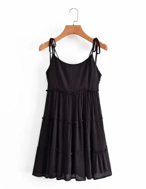 Fashion Black Sling Skirt With Lining