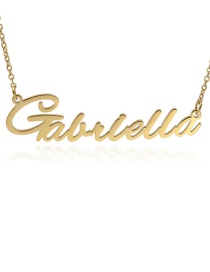Fashion Gabriella-gold Stainless Steel English Letter Necklace