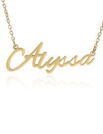Fashion Alyssa-gold Stainless Steel English Letter Necklace