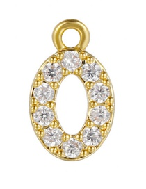 Fashion 0 (golden) Gold-plated Copper Digital Jewelry Accessories