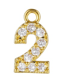 Fashion 2 (golden) Gold-plated Copper Digital Jewelry Accessories
