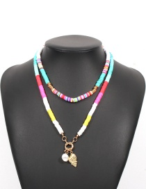 Fashion Color (color Random) Soft Terracotta Shell And Conch Double-layer Necklace